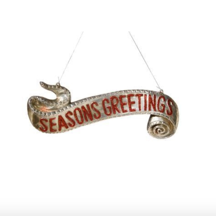 """Seasons Greetings"" Sign Ornament"