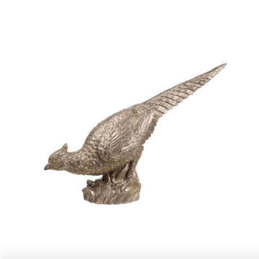 Silver Pheasant Table Top Decoration