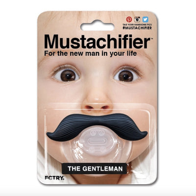 "Mustachifier Pacifier ""The Gentleman"" - Black -  Children's - TTG-The Tate Group - Putti Fine Furnishings Toronto Canada - 1"