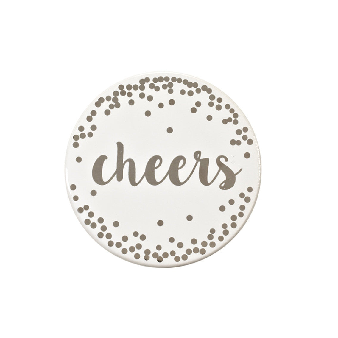 """Cheers"" Ceramic Coaster -  Tableware - Harman - Putti Fine Furnishings Toronto Canada"