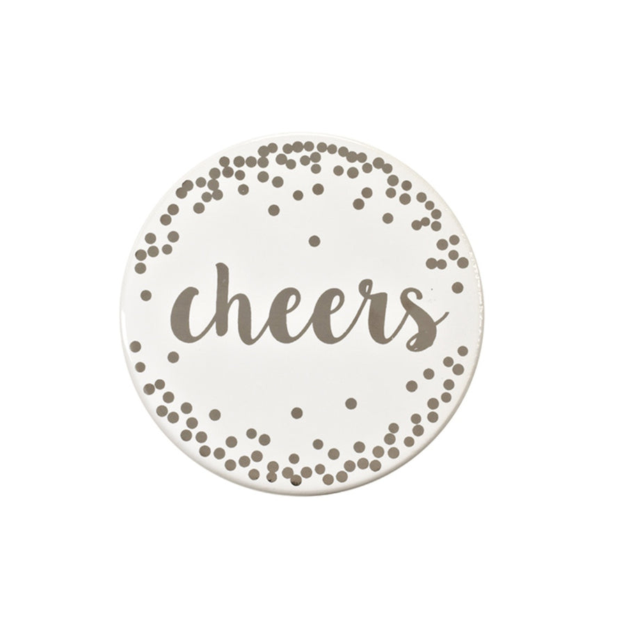 """Cheers"" Ceramic Coaster"