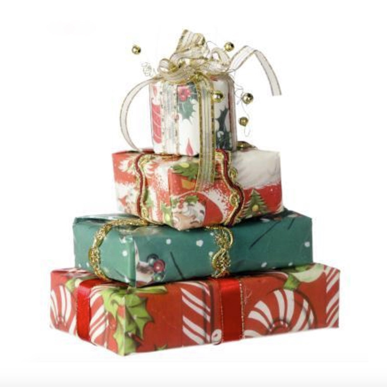 Stack of Gifts Paper Ornament -  Christmas - Floridus Design - Putti Fine Furnishings Toronto Canada