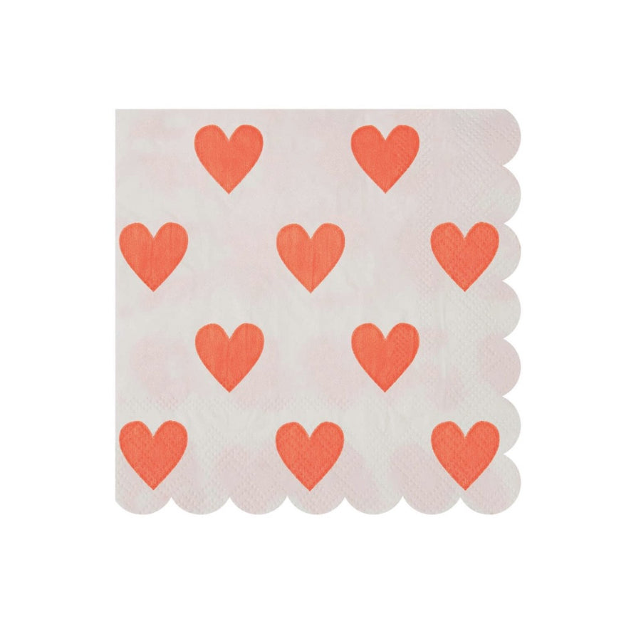 Meri Meri Heart Paper Napkins - Small -  Party Supplies - Meri Meri UK - Putti Fine Furnishings Toronto Canada