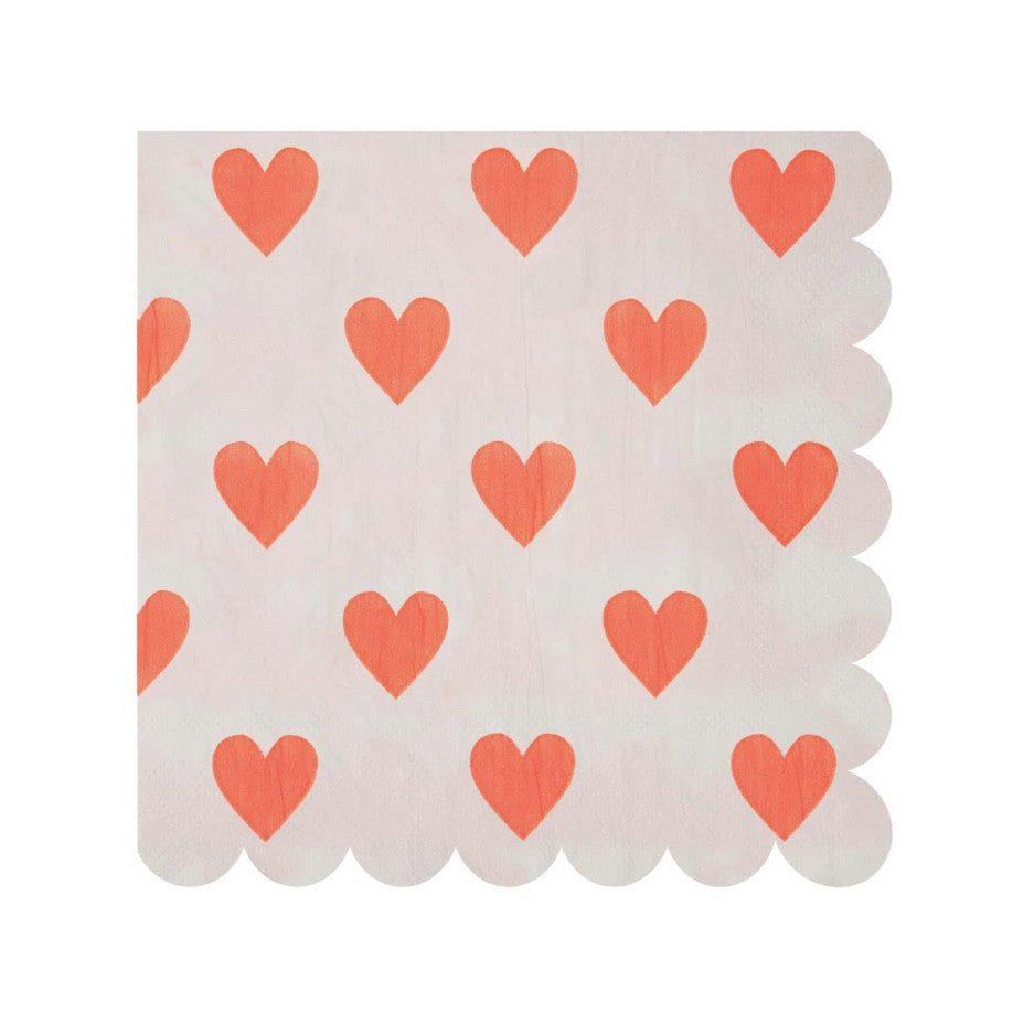 Meri Meri Heart Paper Napkins - Large -  Party Supplies - Meri Meri UK - Putti Fine Furnishings Toronto Canada