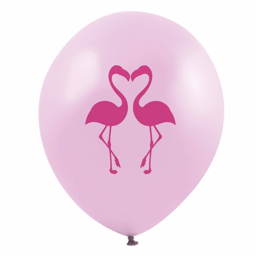"""Pink Flamingo Love Birds"" Balloon - Pink"