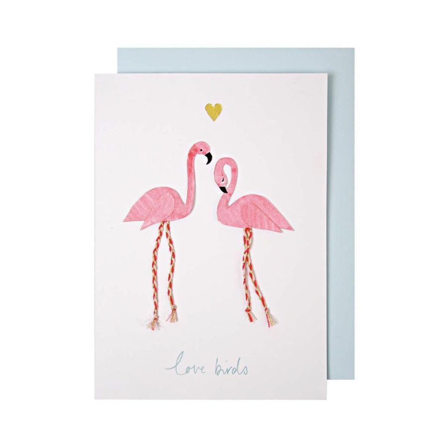 Meri Meri Flamingo Love Birds Greeting Card