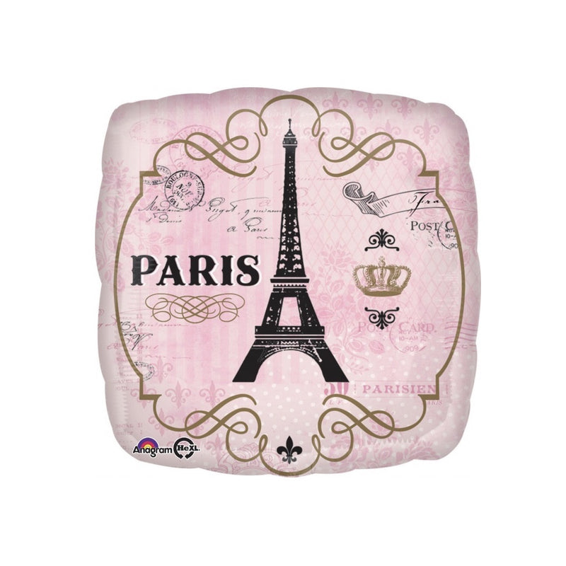 """A Day in Paris"" Mylar Balloon -  Party Supplies - SE-Surprize Enterprize - Putti Fine Furnishings Toronto Canada"