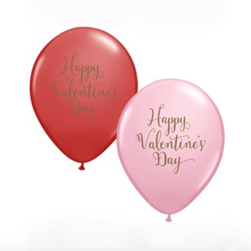 """Happy Valentine's Day"" Script Balloon -  Party Supplies - Surprize Enterprize - Putti Fine Furnishings Toronto Canada"