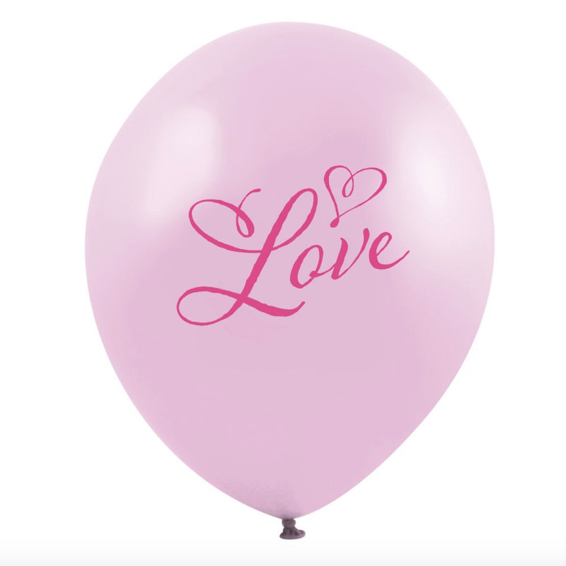 """Pink Love"" Balloon - Pink -  Party Supplies - Vintage Angel - Putti Fine Furnishings Toronto Canada"