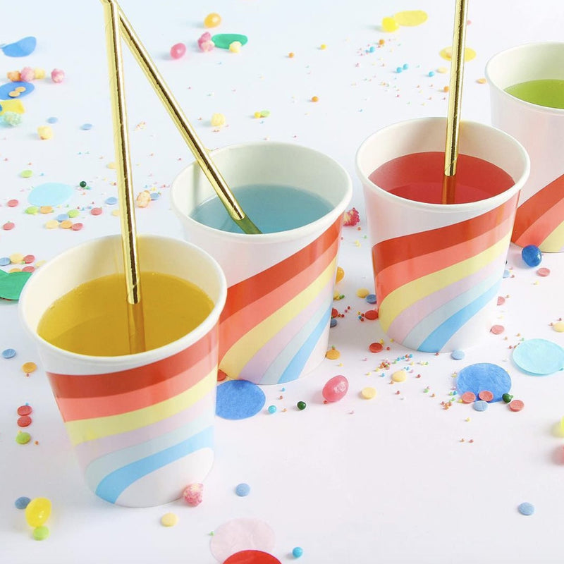 """Rainbow"" Paper Cups -  Party Supplies - Meri Meri UK - Putti Fine Furnishings Toronto Canada - 1"