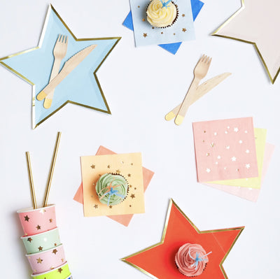 Meri Merri Jazzy Star Plates -  Party Supplies - Meri Meri UK - Putti Fine Furnishings Toronto Canada - 7