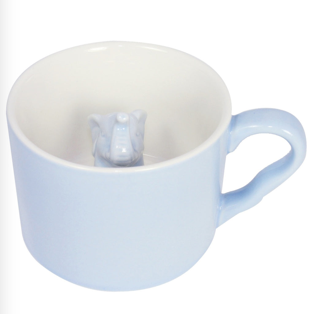 Blue 3D Elephant Peekaboo Mug -  Accessories - Midwest - Putti Fine Furnishings Toronto Canada