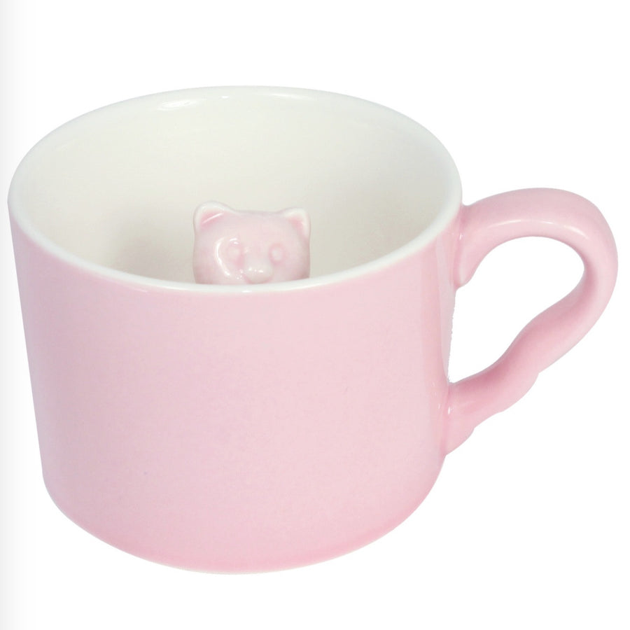 Pink 3D Kitty Peekaboo Mug