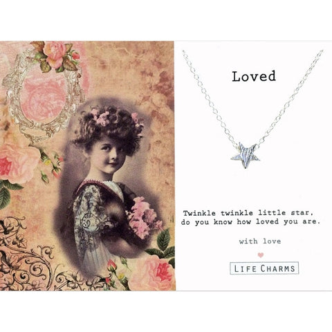 "Life Charms ""Loved"" Star Necklace -  Jewelry - Life Charms UK - Putti Fine Furnishings Toronto Canada"