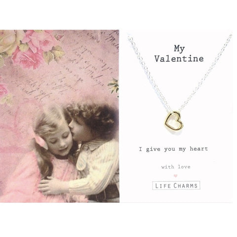 "Life Charms UK ""My Valentine"" Heart Necklace -  Jewelry - Life Charms UK - Putti Fine Furnishings Toronto Canada"