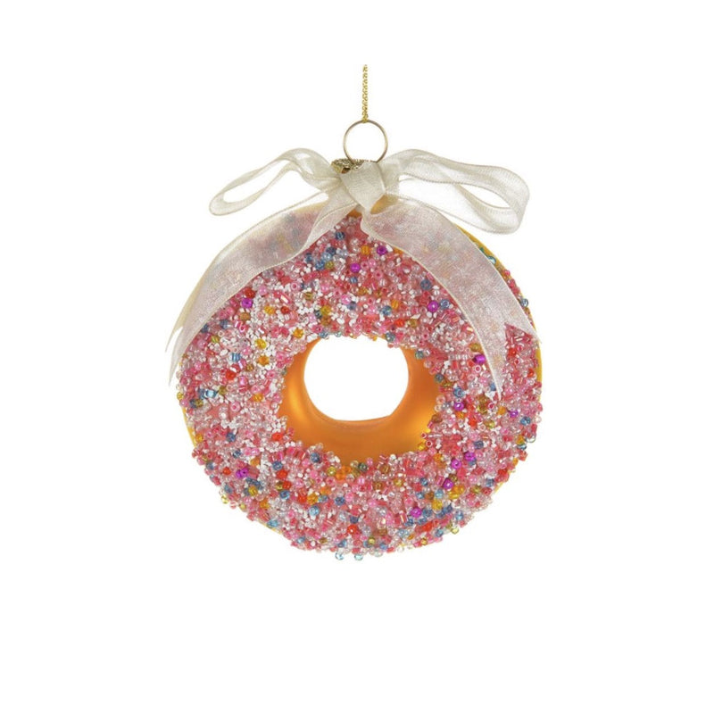 Glass Doughnut with Sprinkles -  Christmas Decorations - Christmas Tradition - Putti Fine Furnishings Toronto Canada