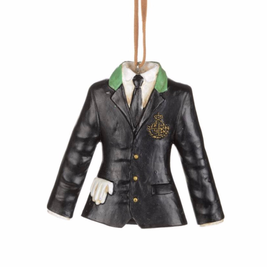 Black Riding Jacket with Crest