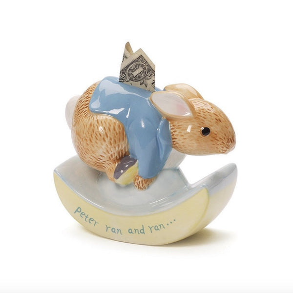 Baby Gund - Peter Rabbit Ceramic Bank-Children's Giftware-EC-Enesco Canada-Putti Fine Furnishings