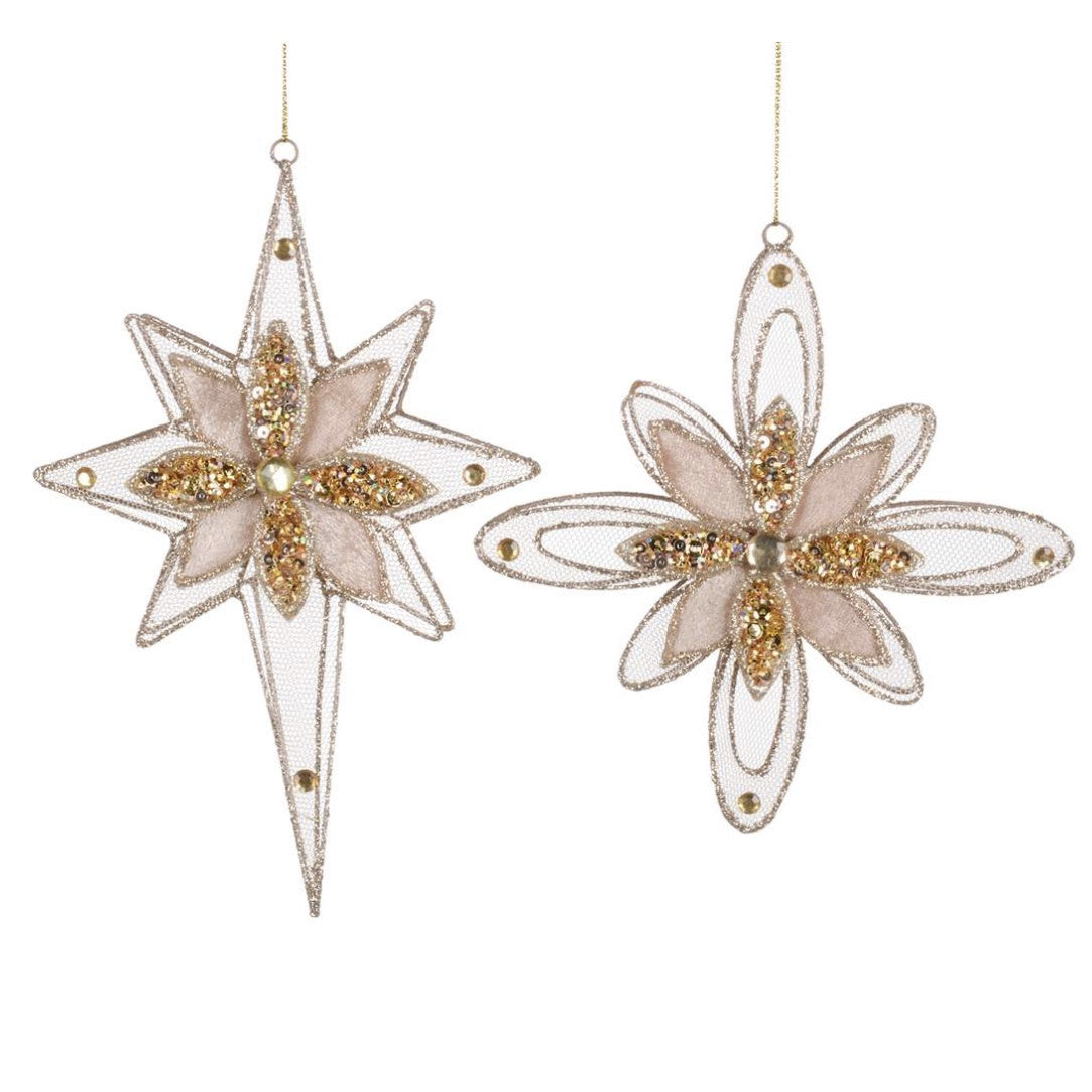 Gold Sheer Wire Snowflake Star
