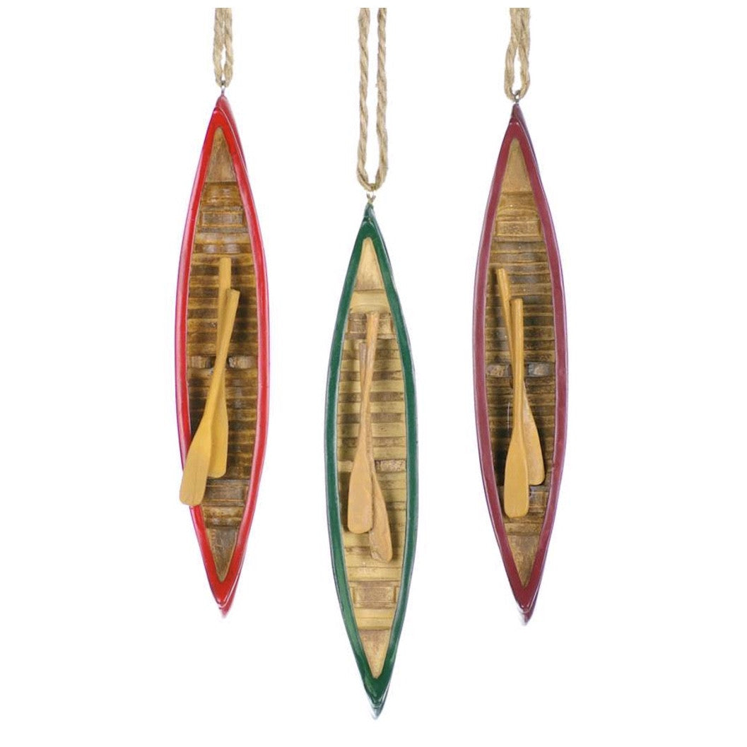 Canoe Ornament, CT-Christmas Tradition, Putti Fine Furnishings