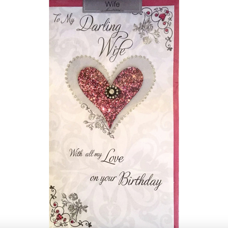 """To My Darling Wife ...."" Birthday Greeting Card"