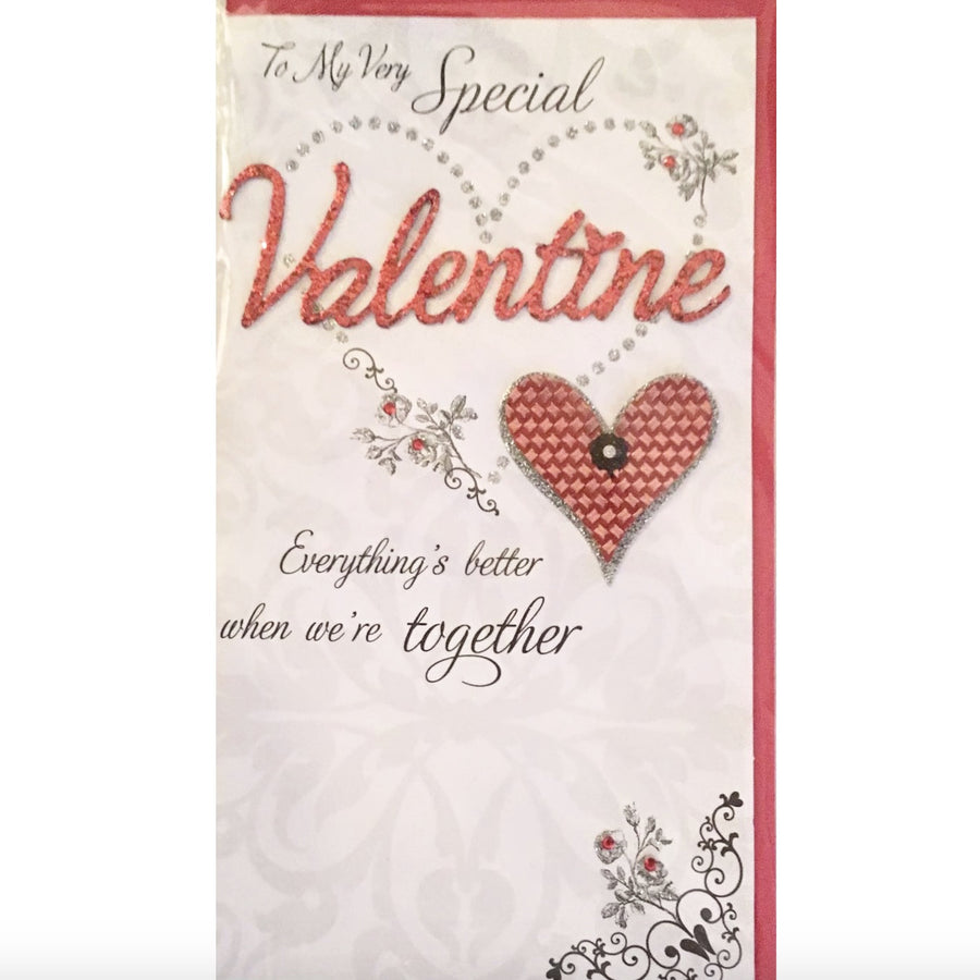 """To My Very Special Valentine ..."" Greeting Card"