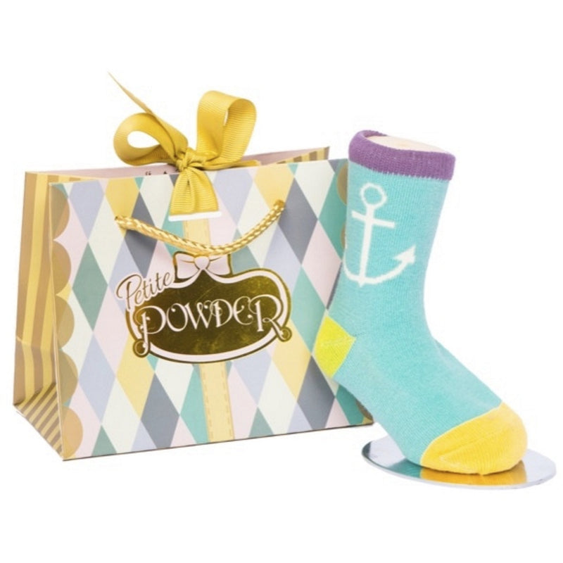 Powder Uk Baby Sock - Anchor, PDL-Powder Design Limited, Putti Fine Furnishings