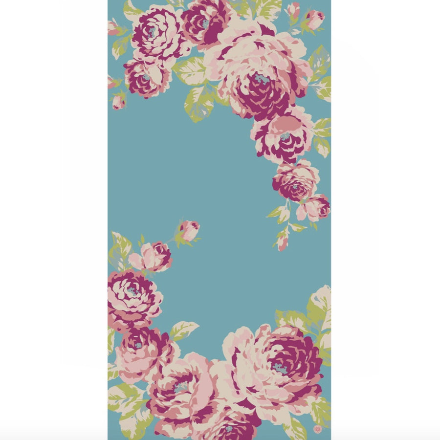 "Powder ""Rose"" Scarf - Turquoise, PDL-Powder Design Limited, Putti Fine Furnishings"
