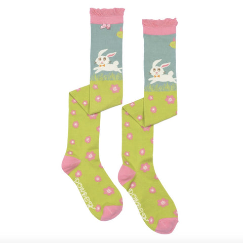 "Powder ""Leaping Bunny"" Long Socks-Personal Accessories-PDL-Powder Design Limited-Putti Fine Furnishings"
