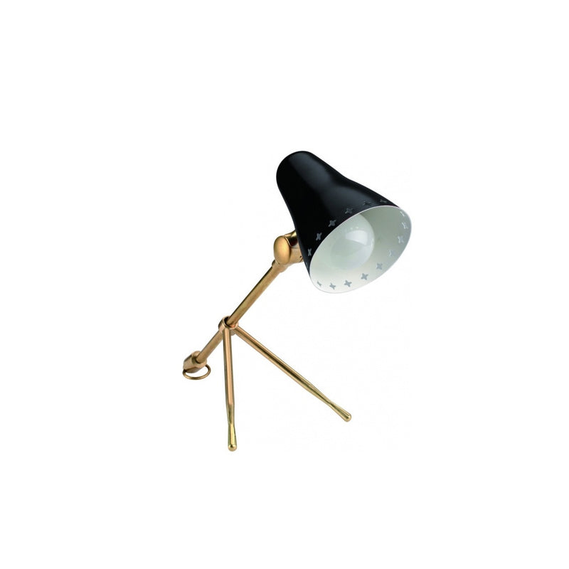 Small Mid Century Style Table Lamp - Black