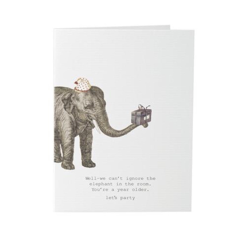 "Tokyo Milk ""Well - we can't ignore the elephant in the room..."" Elephant Card, TM-Tokyo Milk, Putti Fine Furnishings"