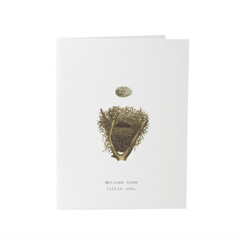 "Tokyo Milk ""Welcome home little one"" Egg & Nest Card, TM-Tokyo Milk, Putti Fine Furnishings"