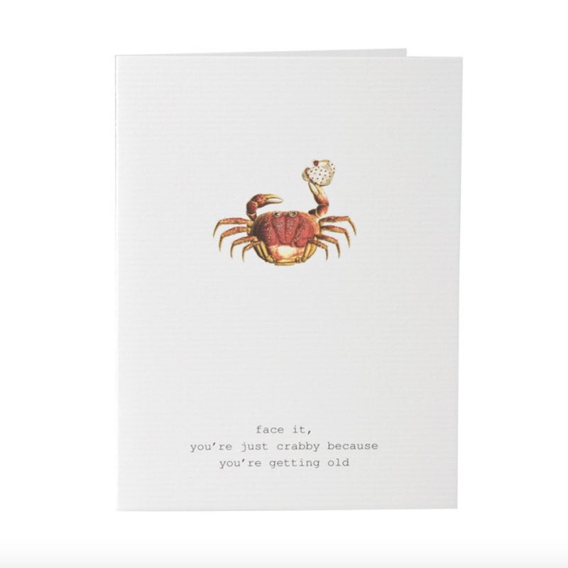 "Tokyo Milk ""face it, you're just crabby ....."" Crab Card, TM-Tokyo Milk, Putti Fine Furnishings"