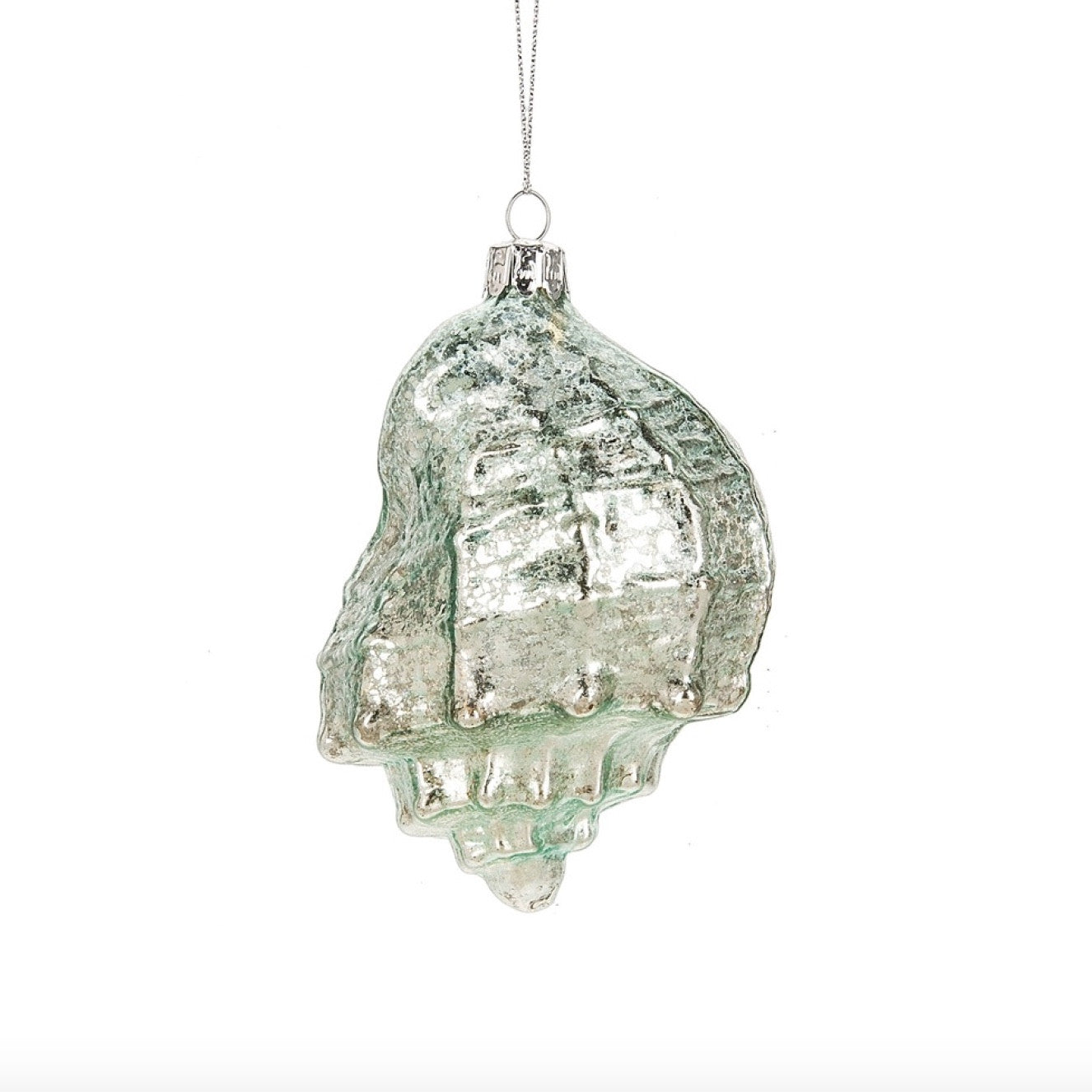 Aqua Mercury Shell Ornament