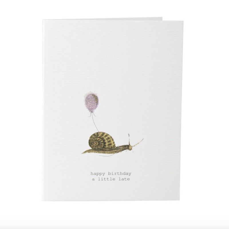 "Tokyo Milk ""Happy Birthday ...a little late"" Snail Card"