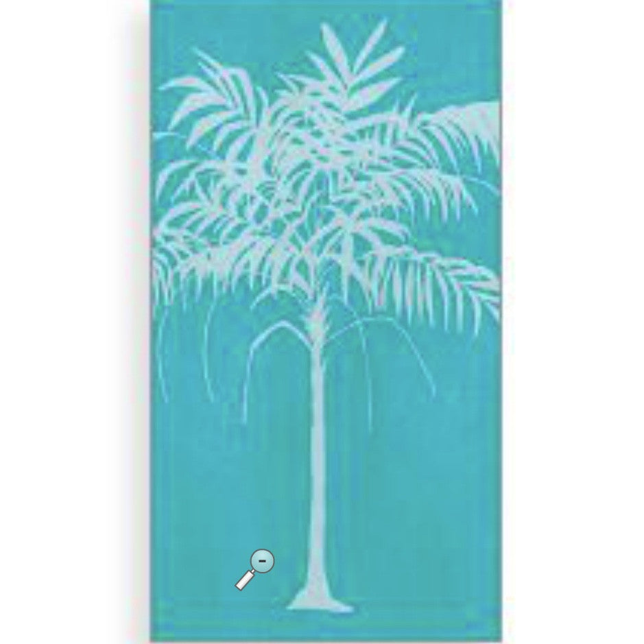 """Tropical Palm"" Paper Guest Napkins, CC-Creative Converting, Putti Fine Furnishings"