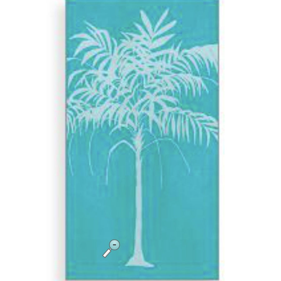"""Tropical Palm"" Paper Guest Napkins"