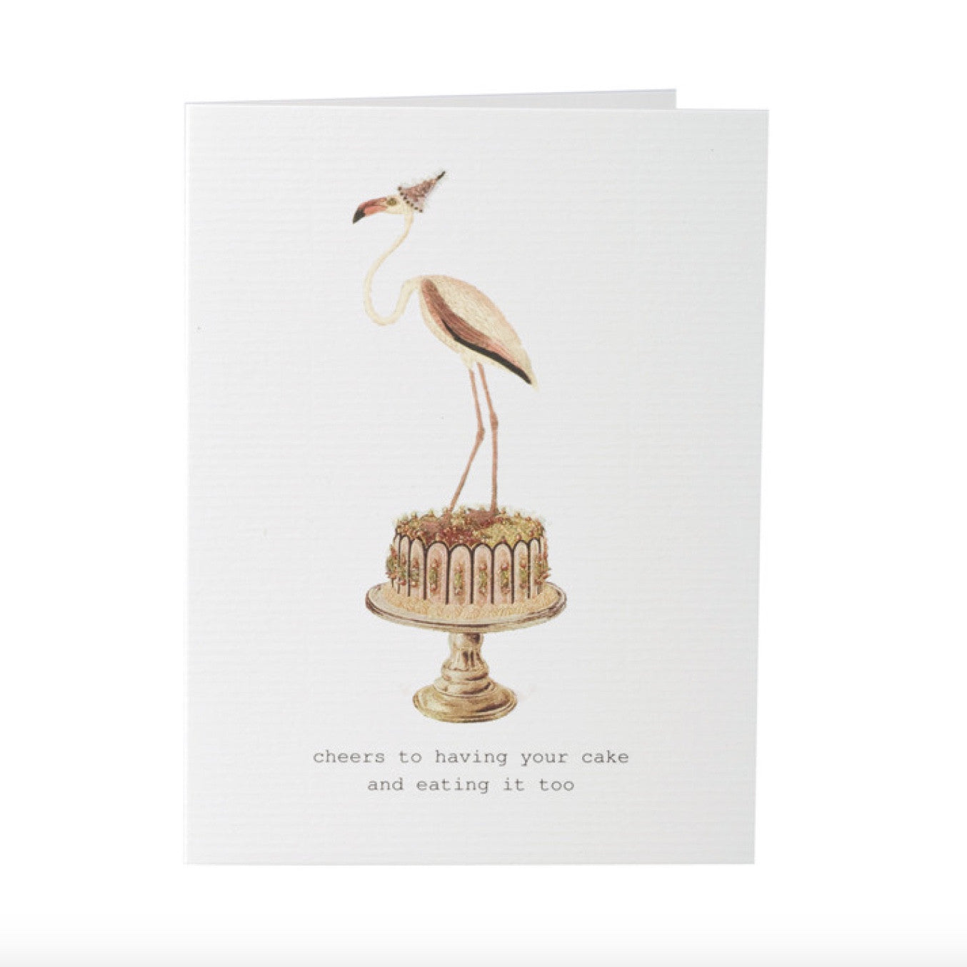 "Tokyo Milk ""Cheers to having your cake..."" Flamingo Card, TM-Tokyo Milk, Putti Fine Furnishings"