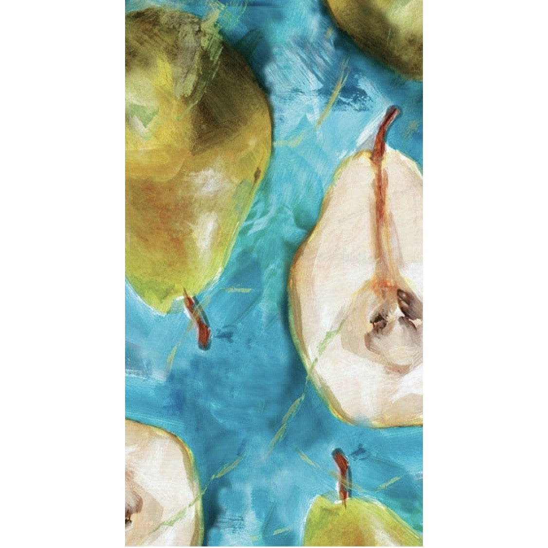 """Watercolor Pears"" Paper Buffet Guest Napkin"