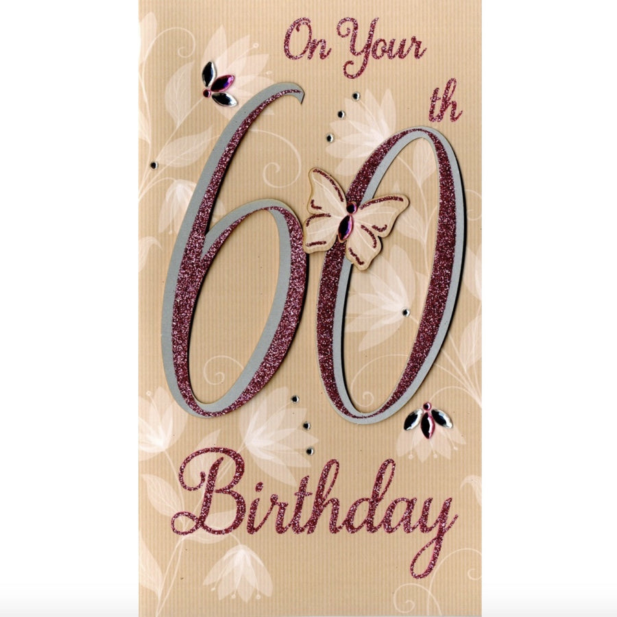 """On your 60th Birthday"" Greeting Card"