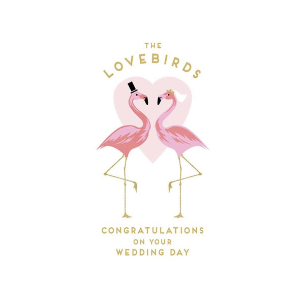 """the Love Bids"" Flamingo Wedding Greeting Card-Stationary-ID-Incognito Distribution-Putti Fine Furnishings"