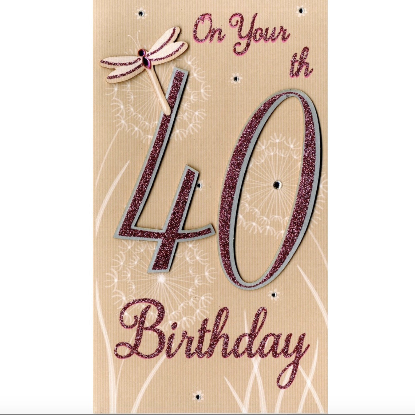 On Your 40th Birthday Greeting Card ID Incognito Distribution Putti Fine
