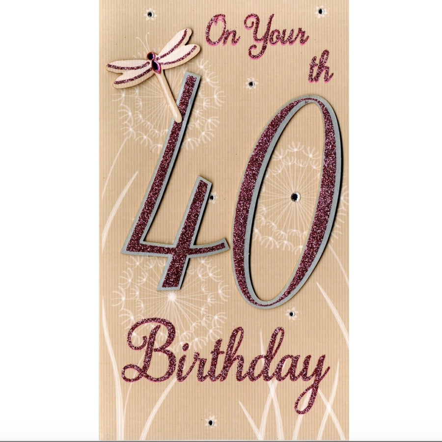 """On your 40th Birthday"" Greeting Card"