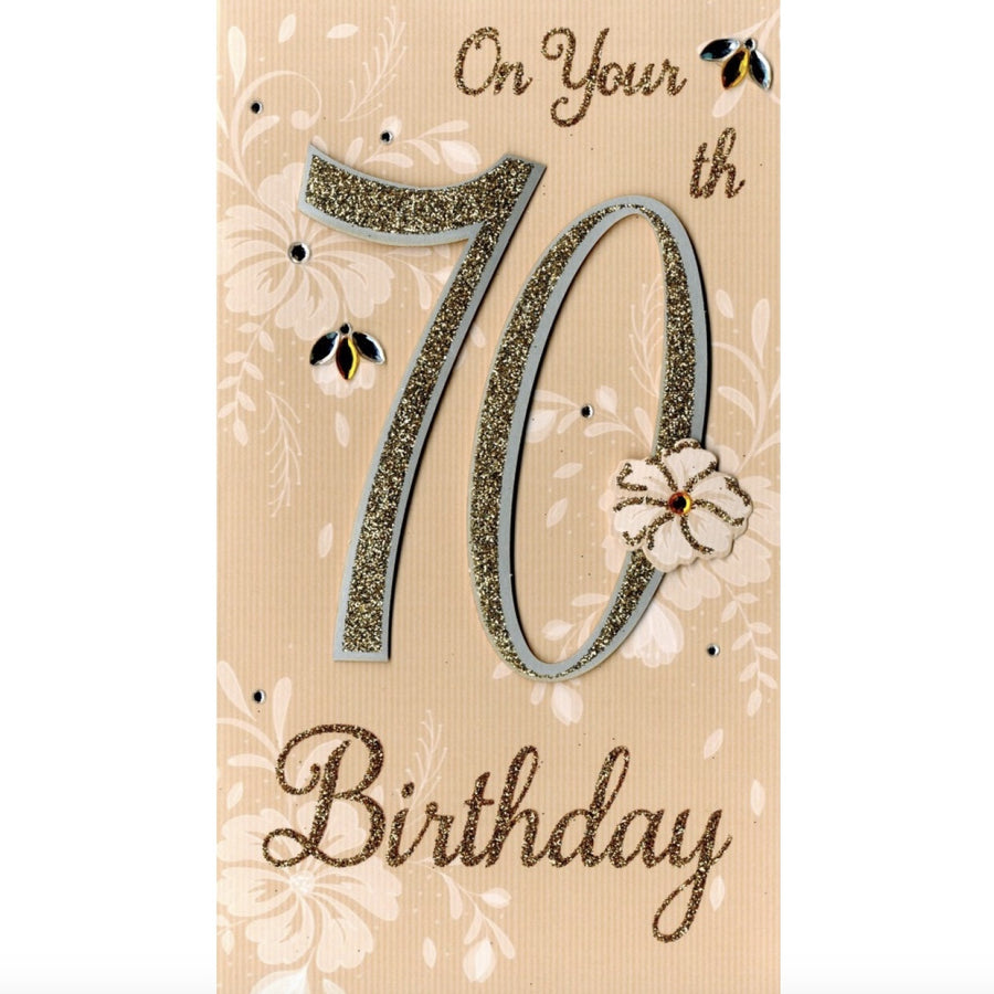 """On your 70th Birthday"" Greeting Card"
