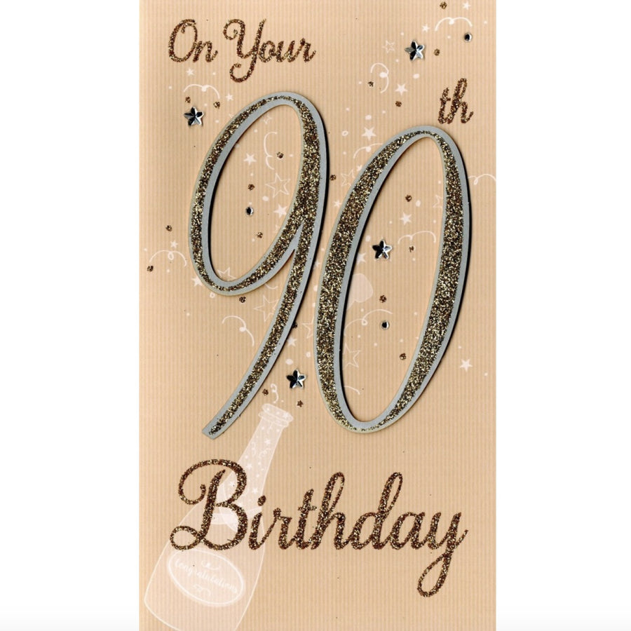 """On your 90th Birthday"" Greeting Card"