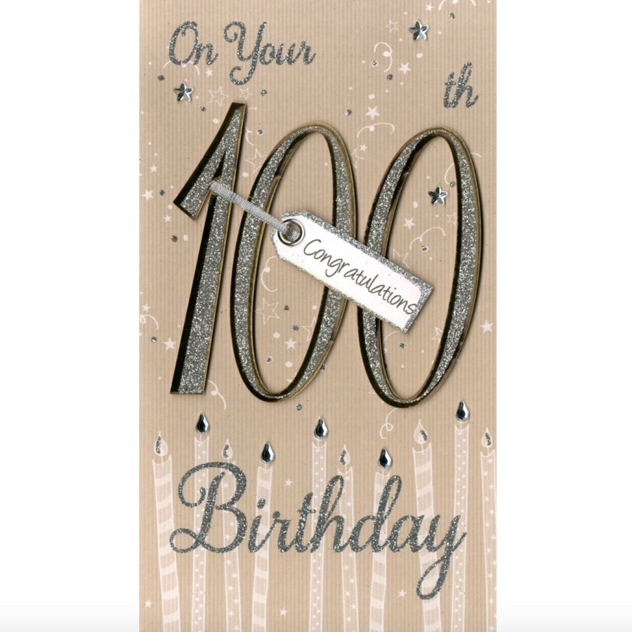 """On your 100th Birthday"" Greeting Card"