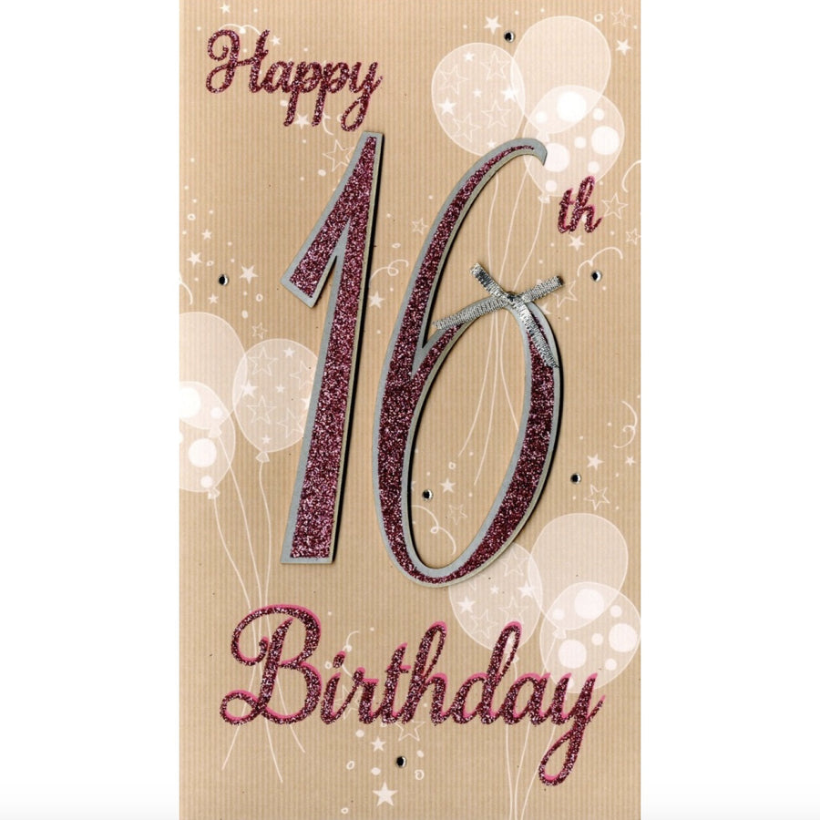 """On your 16th Birthday"" Greeting Card"