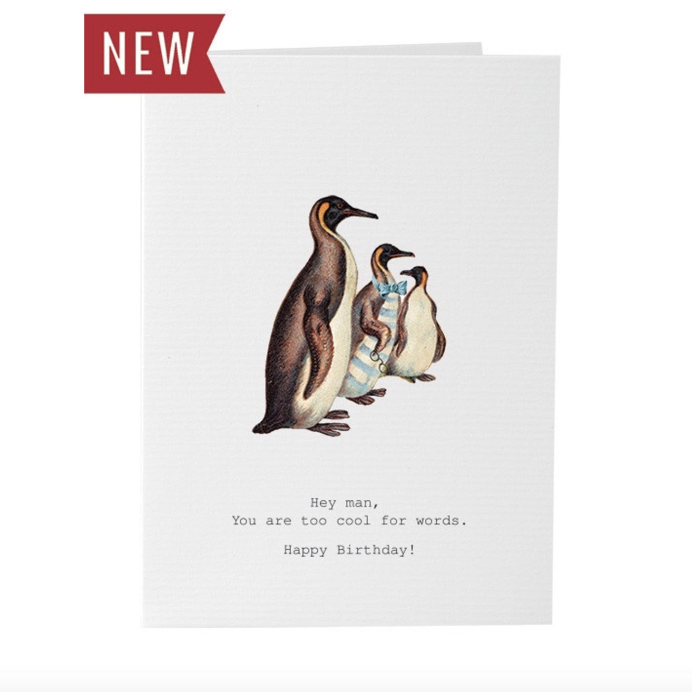 "Tokyo Milk ""Too Cool"" Penguin Birthday Card"