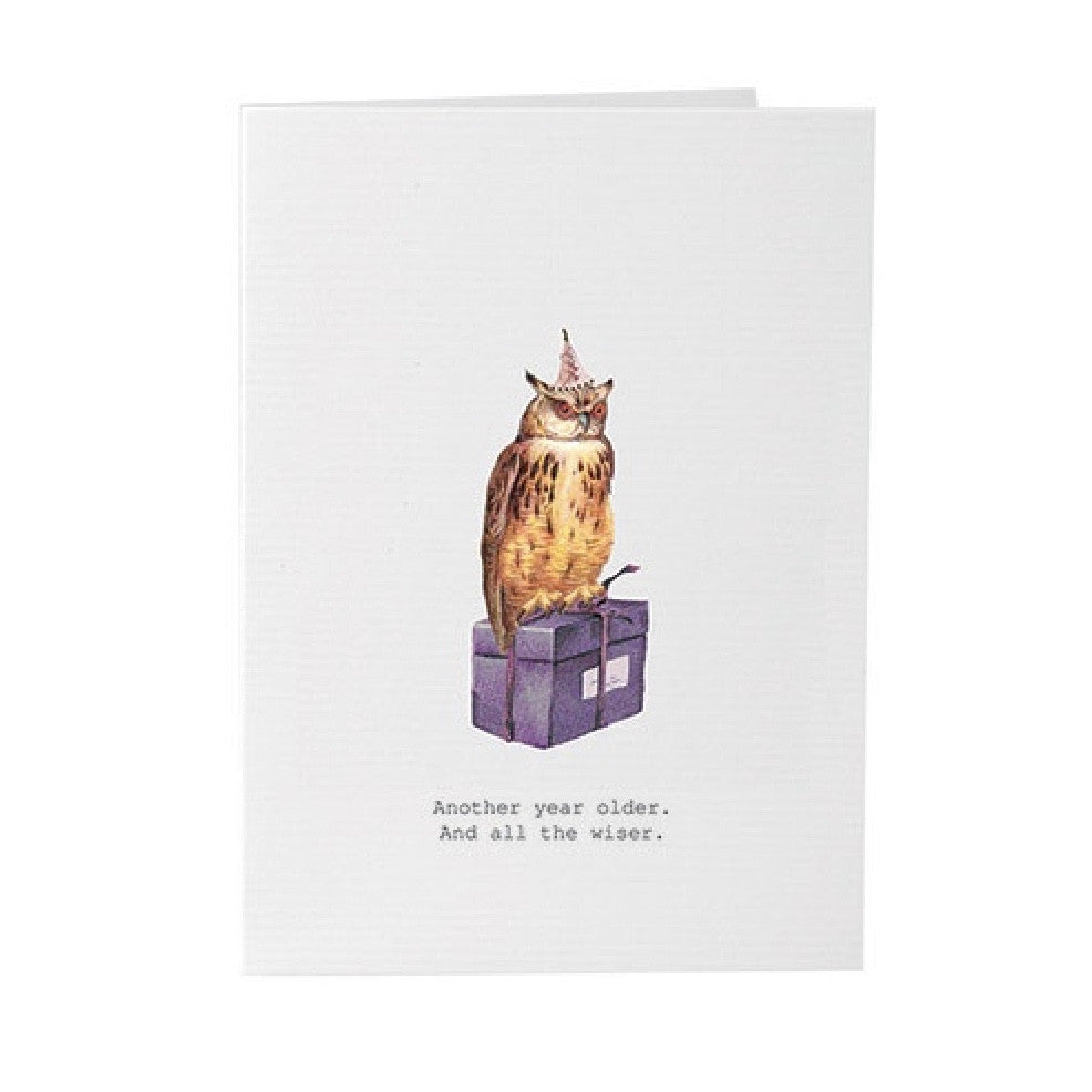 "Tokyo Milk ""Another Year Older"" Owl Card"