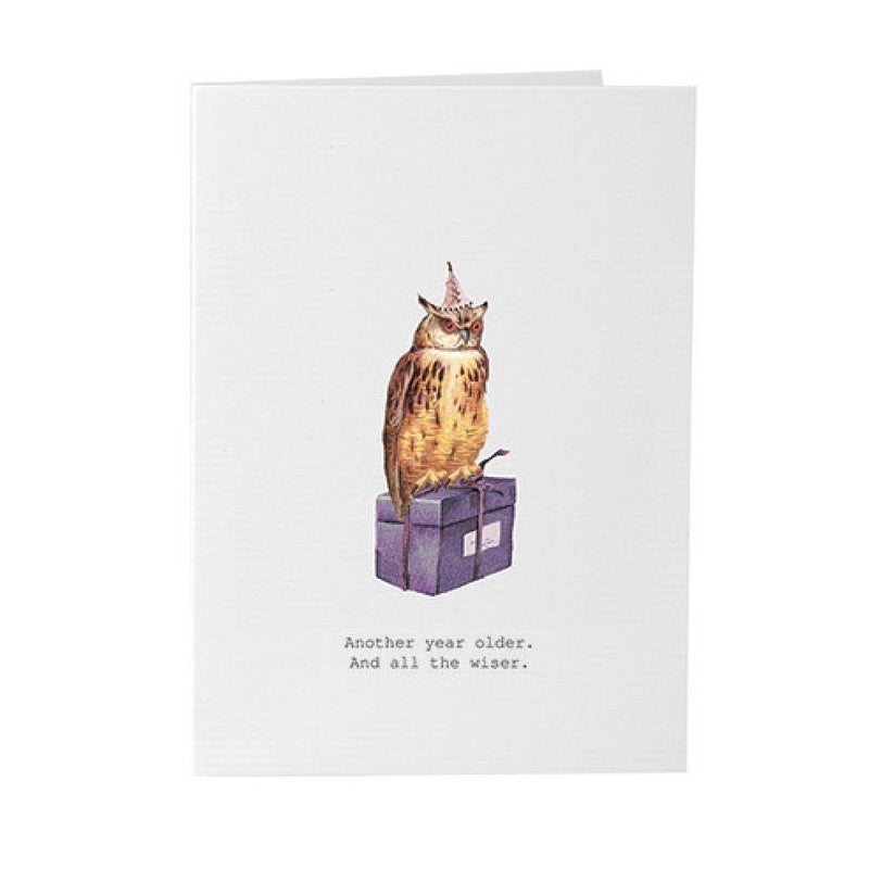 "Tokyo Milk ""Another Year Older"" Owl Card, TM-Tokyo Milk, Putti Fine Furnishings"